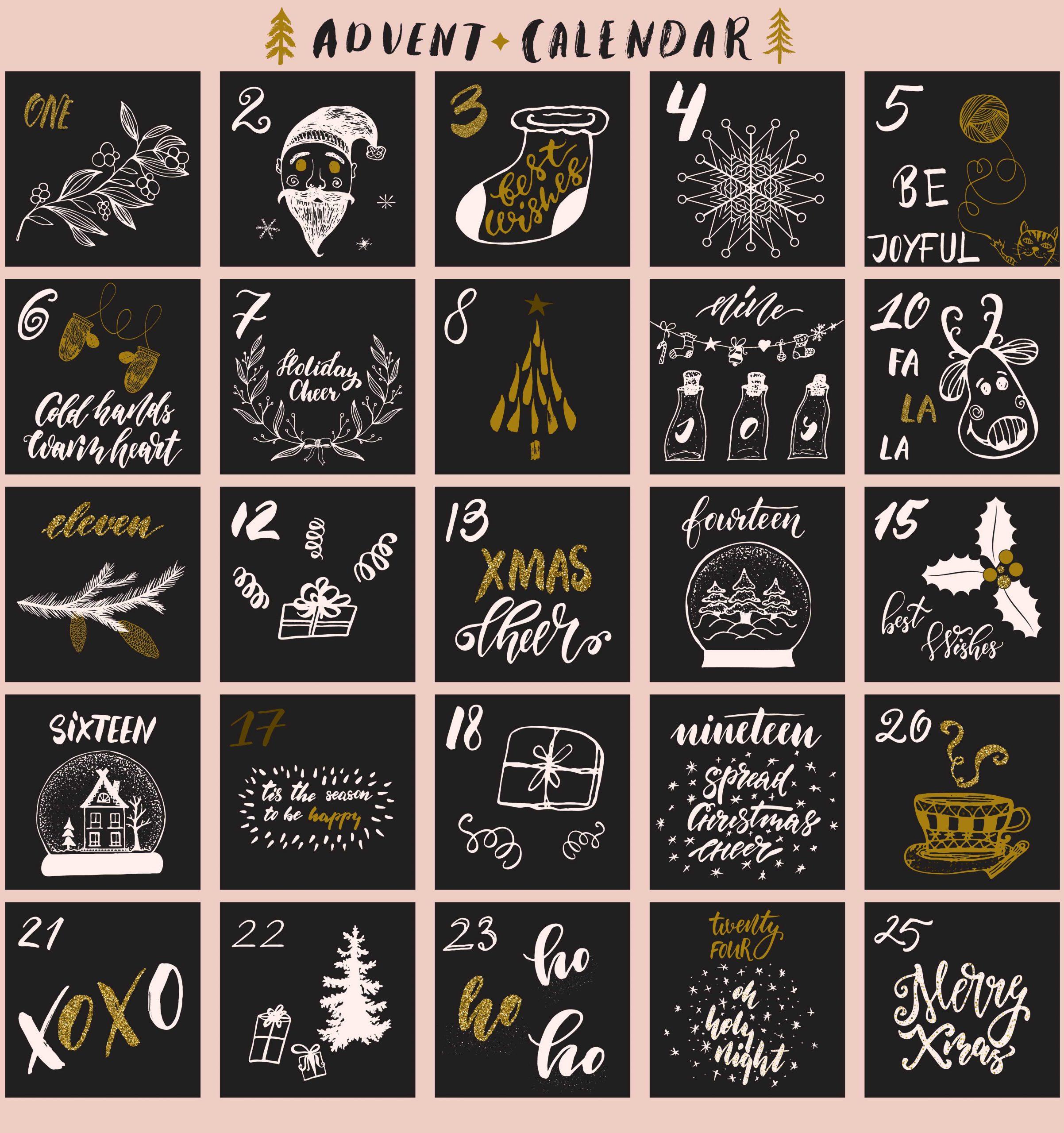 25 Türchen Online Adventskalender für Webseite