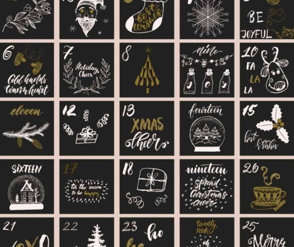 Online Adventskalender Merry Weihnachten rot