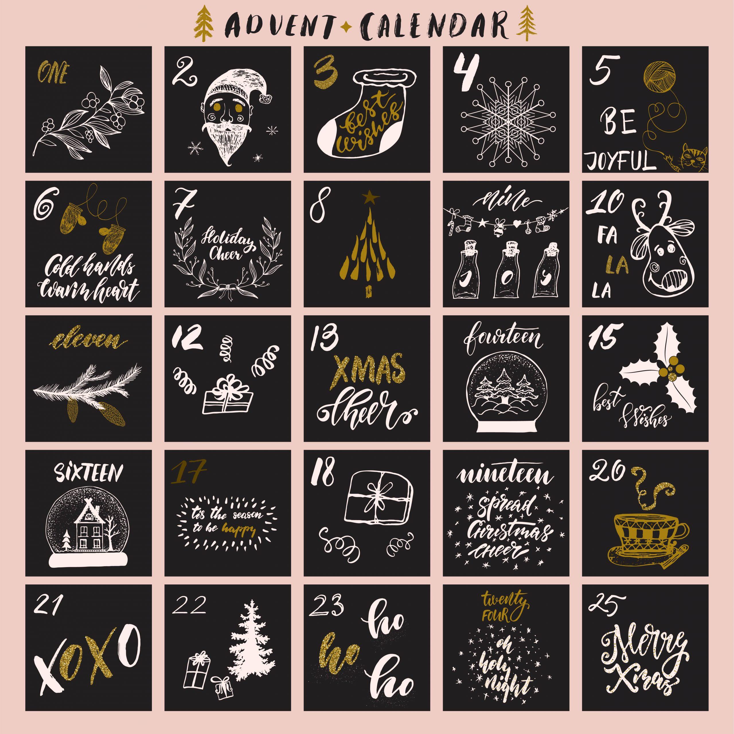 fünfundzwanzig Türchen Weihnachtskalender